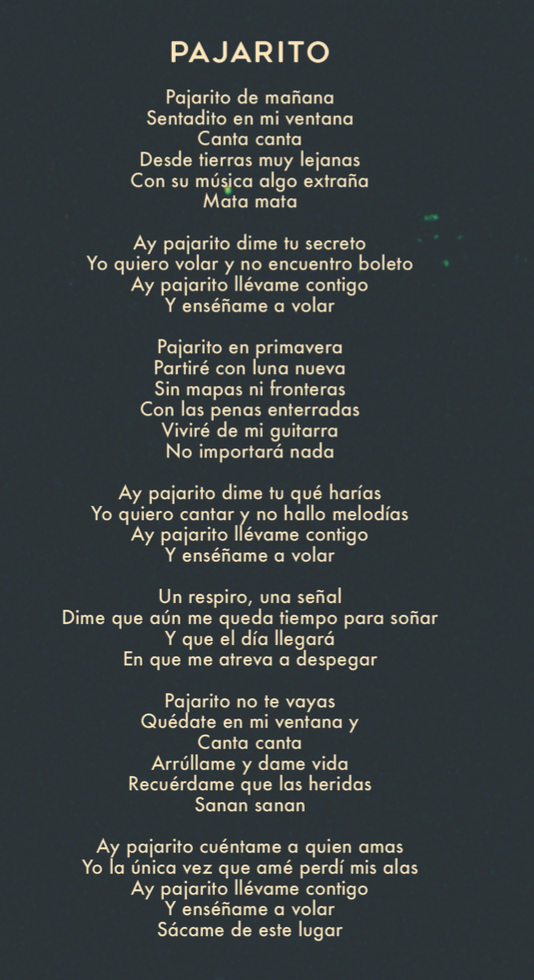 siente mi amor lyrics